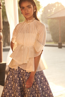 Organza Ruffled Top