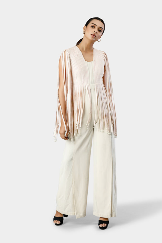 Fringed Pearl Drop Jacket