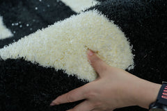 Cubix CRPT021 Super Soft Indoor Modern Shag Area Fluffy Rugs Anti-Skid Shaggy Area Rug For Dining Room Home Bedroom Carpet 116 by 79 Inch 9.67 By 6.58 Feet