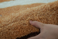 Cubix CRPT005 Super Soft Indoor Modern Shag Area Fluffy Rugs Anti-Skid Shaggy Area Rug For Dining Room Home Bedroom Carpet 88 by 62 Inch 7.33 By 5.17 Feet