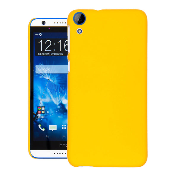 Desire 820 Case  CUBIX Ultra Thin Rubberized Matte Hard Case Back Cover for HTC DESIRE 820 (Yellow)