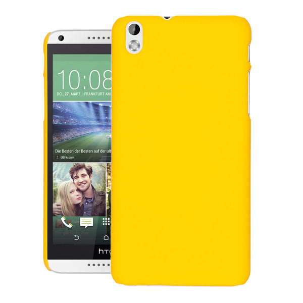 Desire 816 Case  CUBIX Ultra Thin Rubberized Matte Hard Case Back Cover for HTC Desire 816 (Yellow)