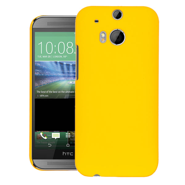 HTC ONE M8 Case  CUBIX Ultra Thin Rubberized Matte Hard Case Back Cover for HTC ONE M8 (Yellow)