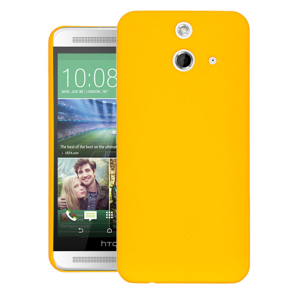 HTC One E8 Case  CUBIX Ultra Thin Rubberized Matte Hard Case Back Cover for HTC One E8 (Yellow)