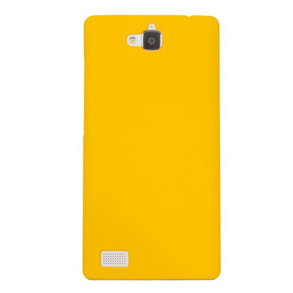 Honor 3C Case  CUBIX Ultra Thin Rubberized Matte Hard Case Back Cover for Huawei Honor 3C (Yellow)