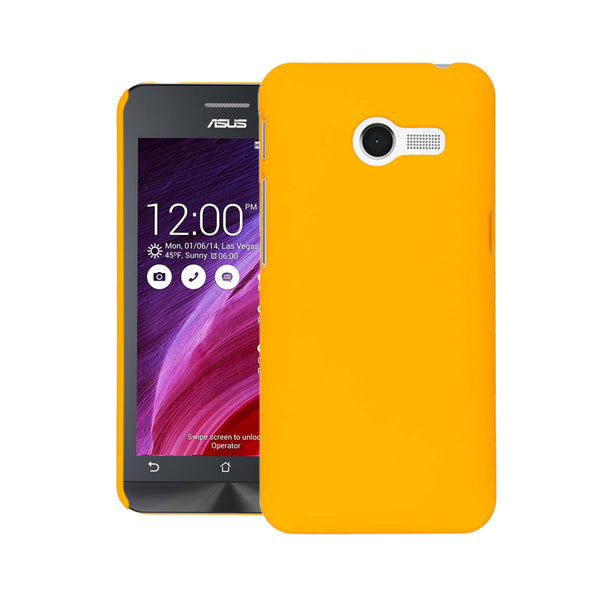 Zenfone 4 Case  CUBIX Ultra Thin Rubberized Matte Hard Case Back Cover for Asus Zenfone 4 (Yellow)