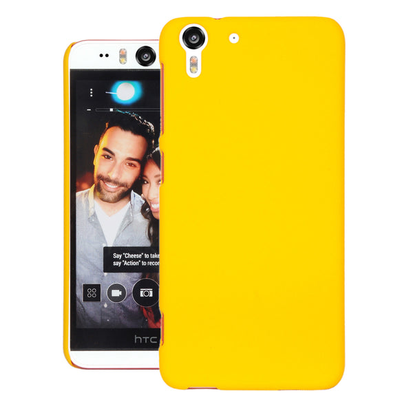 Desire Eye Case  CUBIX Ultra Thin Rubberized Matte Hard Case Back Cover for HTC Desire Eye (Yellow)