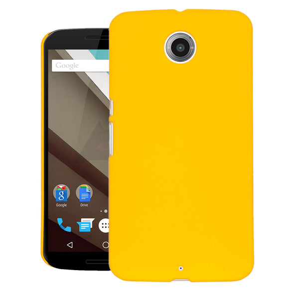 GOOGLE NEXUS 6 Case  CUBIX Ultra Thin Rubberized Matte Hard Case Back Cover for GOOGLE NEXUS 6 (Yellow)