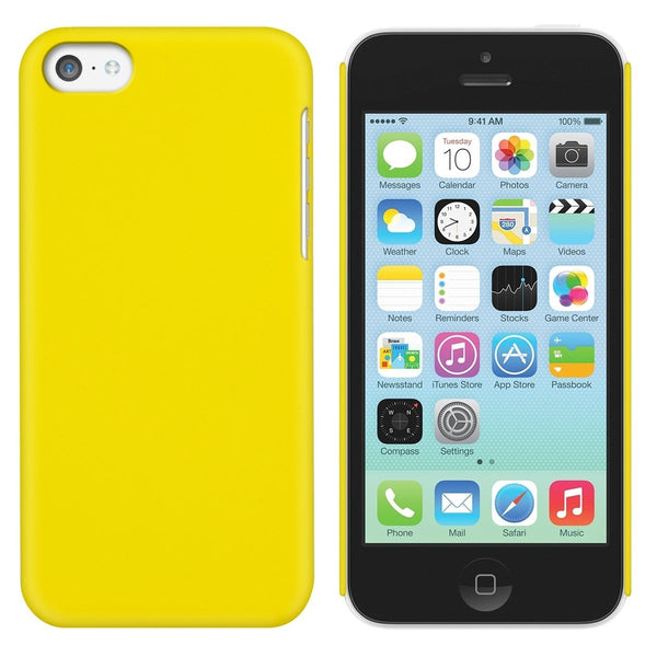 iPhone 5c Case  CUBIX Yellow Hard Case Back Cover for Apple iPhone 5c (Ultra Thin Rubberized Matte)