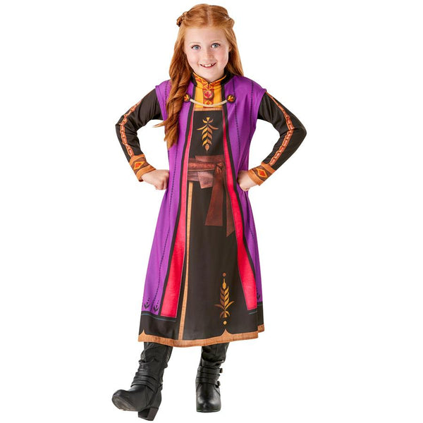 Disney Frozen 2 Movie Official Classic Princess Anna Dress, Costume