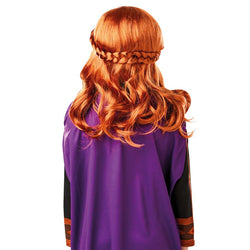 Disney Frozen 2 Movie Classic Princess Anna Wig Costume Accessory