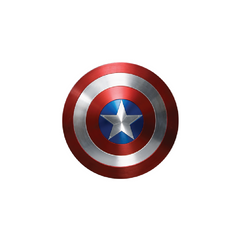 "Marvel Captain America Metallic 12"" Shield by Rubies Costume"