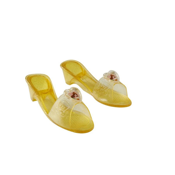 Disney's Princess Belle Jelly Shoes in Gold by Rubies Costume