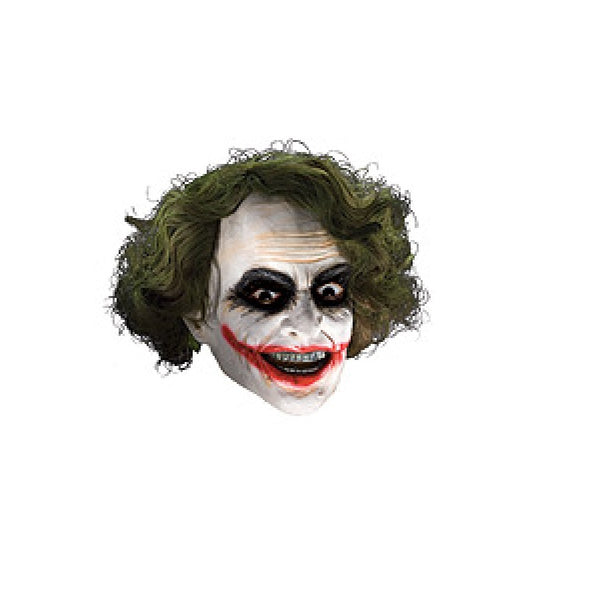 Warner Bros DC Comics Adult Joker Vinyl Mask Accessory with Wig Hair by Rubies Costume