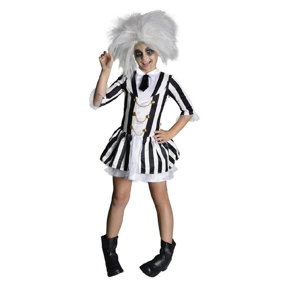 Beetlejuice Girl Costume in black and white by Rubies Costume