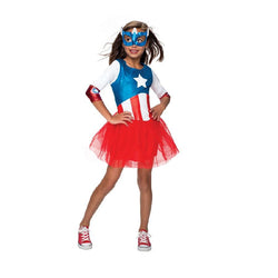 Marvel Lil Lady Captain America Costume by Rubies Costume