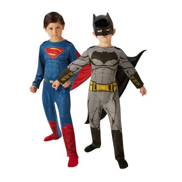 Warner Brothers DC Comics Batman & Superman Classic Costume from Batman Vs Superman: Dawn of Justice by Rubies Costume