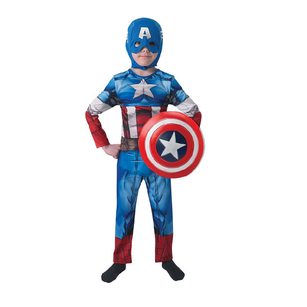 Marvel Captain America Classic Costume with snood, shield