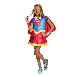 DC Comics Warner Brothers Supergirl Deluxe Costume by Rubies Costume