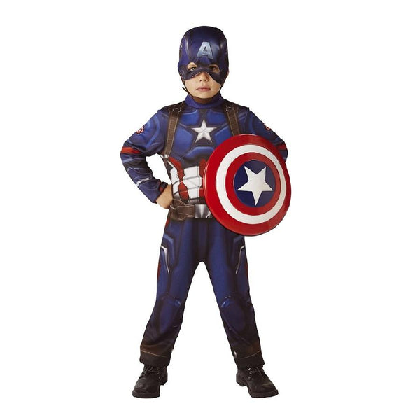 Marvel Civil War Captain America Classic with Shield by Rubies Costume