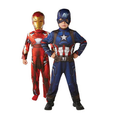 Marvel Avengers Civil War Iron Man & Captain America Twin Pack by Rubies Costume