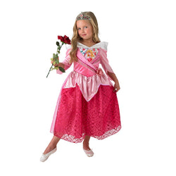 Disney Sleeping Beauty Princess Aurora Shimmer Dress,Costume