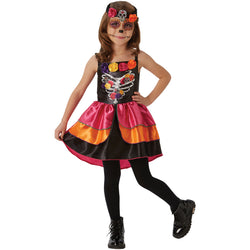 Halloween Sugar Skull Day of the Dead Girls Costume