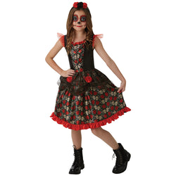 Halloween Red Rose of The Dead 9-10yrs Costume