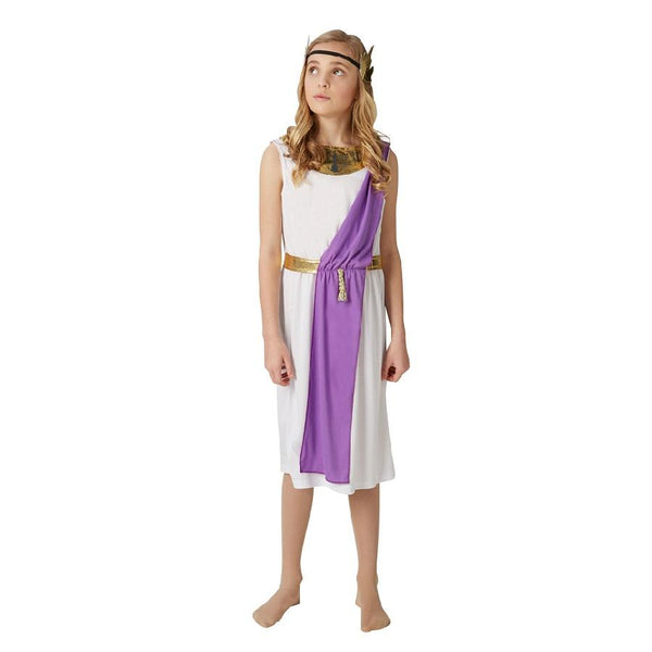 Book Week Historical Roman Girl 9-10 year old Costume with purple sleeve by Rubies Costume