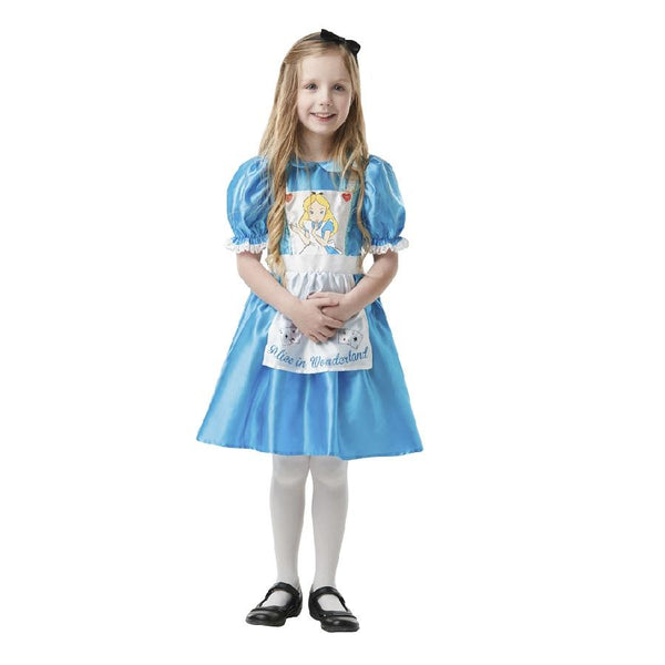 Book Week Alice In Wonderland Girl outfit in light blue by Rubies Costume