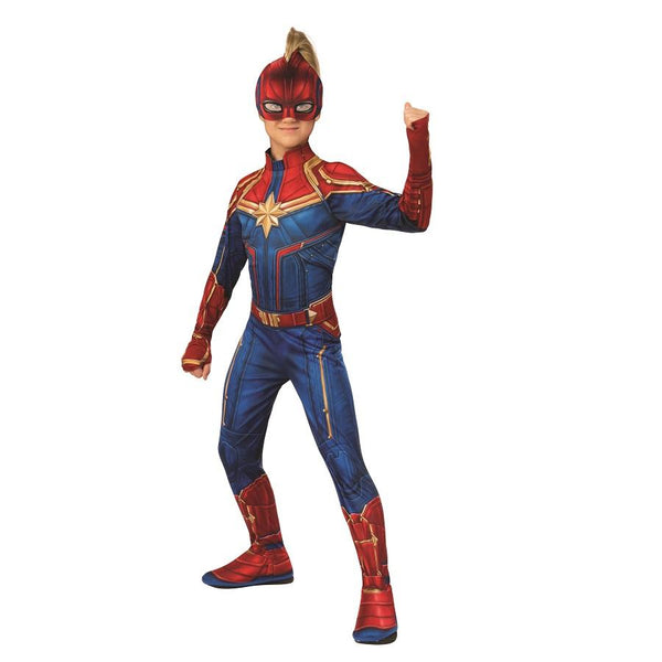 Marvel Comics Captain Marvel Movie Official Captain Marvel Child Costume