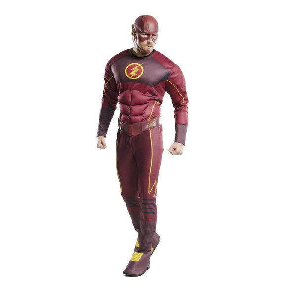 Warner Bros Adult Flash Deluxe Costume in Red by Rubies Costume