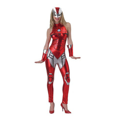 Marvel Adult Iron Lady Costume in Red by Rubies Costume