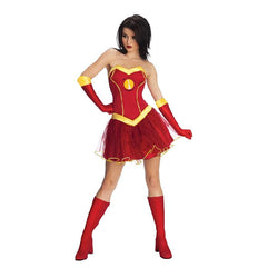 Marvel Adult Iron Lady Outfit in Red by Rubies Costume
