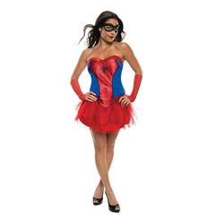 Marvel Comics Adult Spidergirl Dress in Red and Blue by Rubies Costume