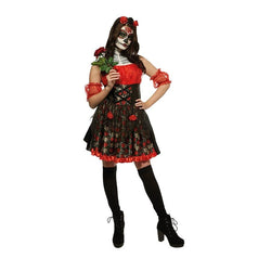 Adult Day of the Dead Costume in Red and Black by Rubies Costume