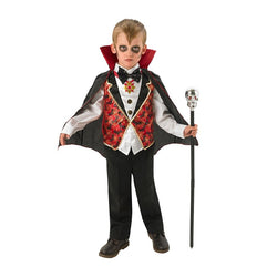 Halloween Dracula Costume with high neck collar by Rubies Costume