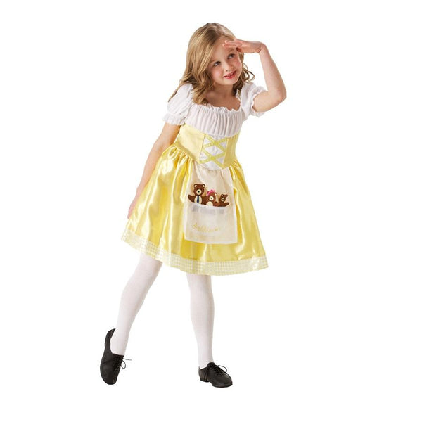 Book Week Goldilocks Costume with bears in yellow by Rubies Costume