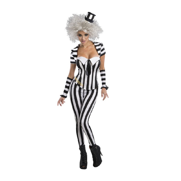 Female Beetlejuice Corset outfit for Adults by Rubies Costumes