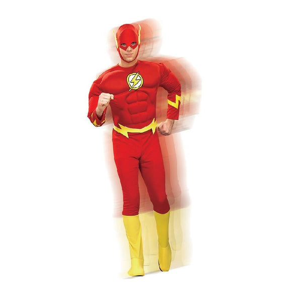 Warner Brothers DC Comics Adult Flash Muscle Chest Suit