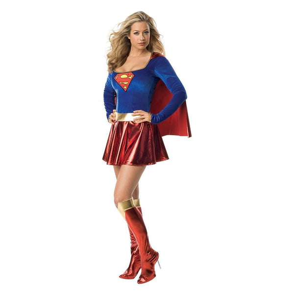 DC Comics Warner Bros Adult Supergirl Costume in Red and Blue by Rubies Costume