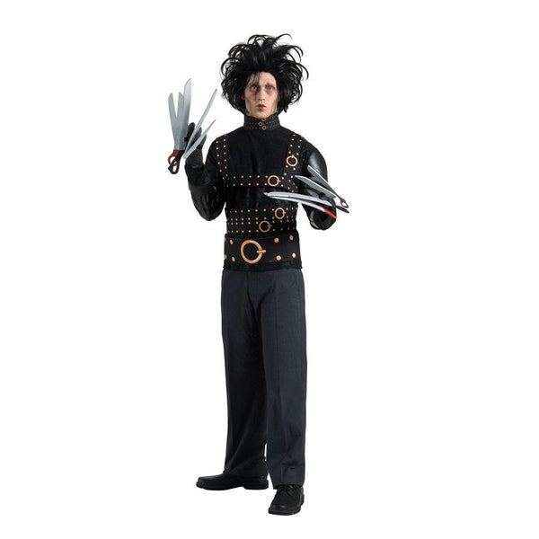 Adult Edward Scissorhands Costume in Black by Rubies Costume