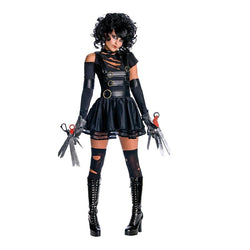 Adult Lady Edward Scissorhands Costume in Black by Rubies Costume