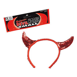 Small Red Devil Sequin Horns Headband by Rubies Costume