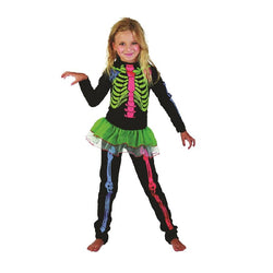 Halloween Skeleton Girl Multi Colored Bones by Rubies Costume