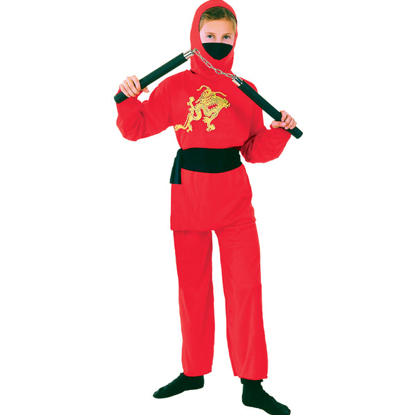Around the World Red Ninja Costume