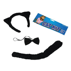 Headband, Tail and Bow Tie Black Cat Set by Rubies Costume