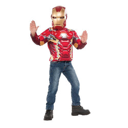 Marvel Comics Iron Man 3 Muscle Light Up Iron Man Top