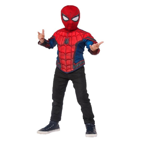 Spider-man Homecoming Muscle Chest Shirt Set by Rubies Costume