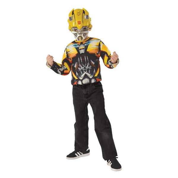Transformers Bumble Bee Muscle Top & Mask by Rubies Costume